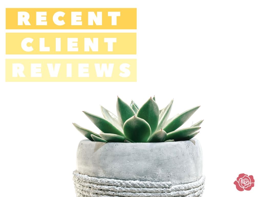 recent client reviews