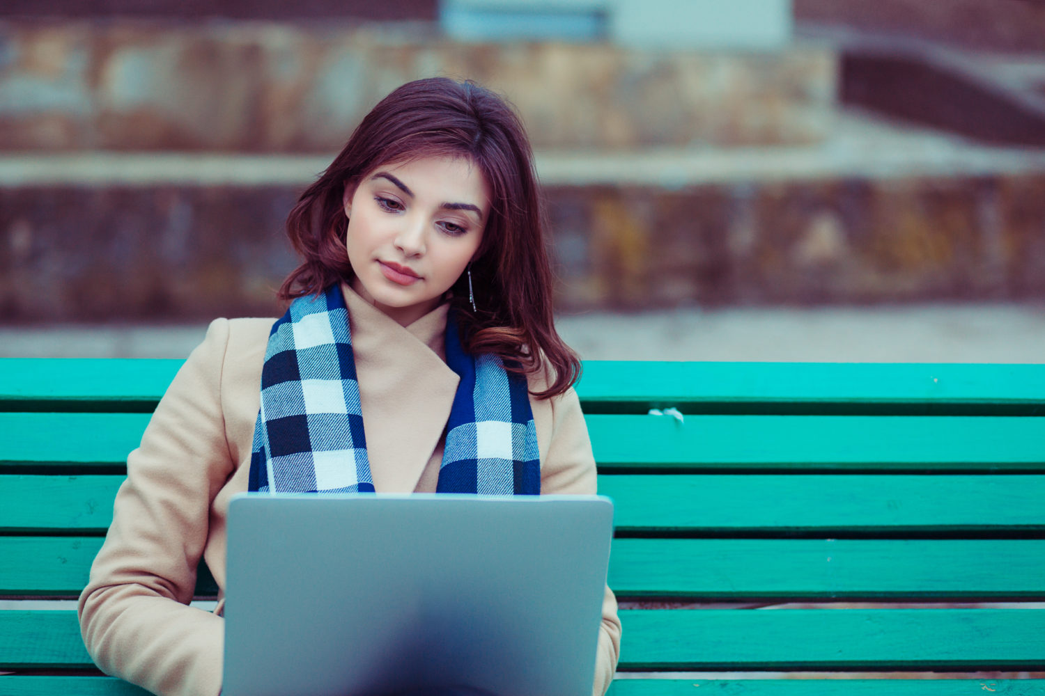 Woman looking at abortion pill information online